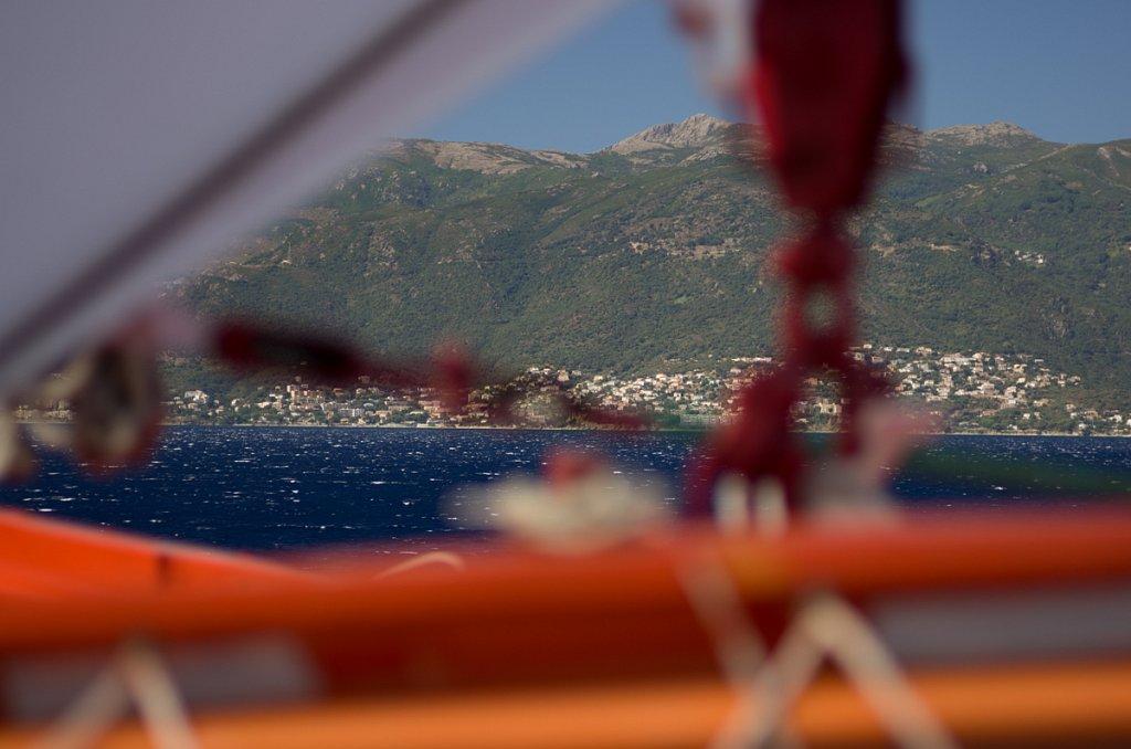 Blick auf die Küste bei Bastia