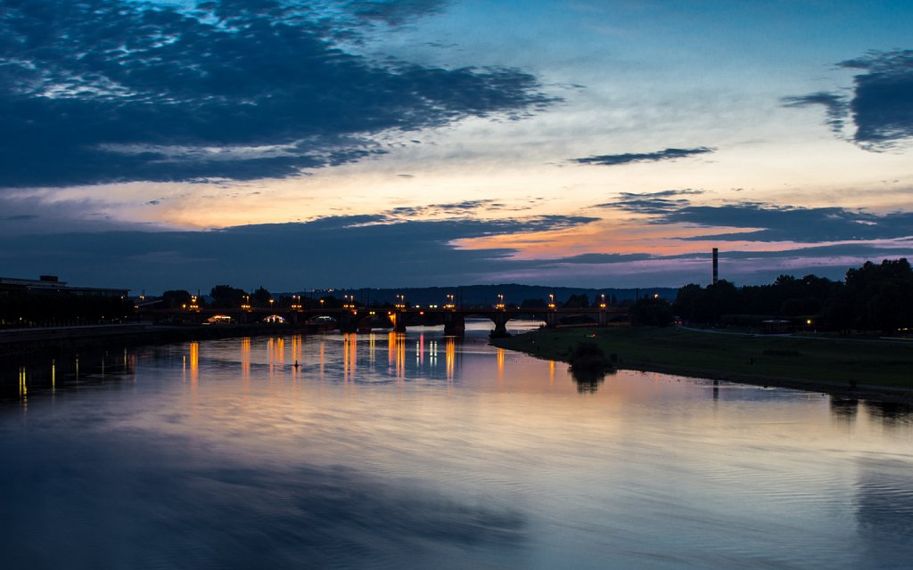 Sonnenuntergang (Sunset at Elbe)