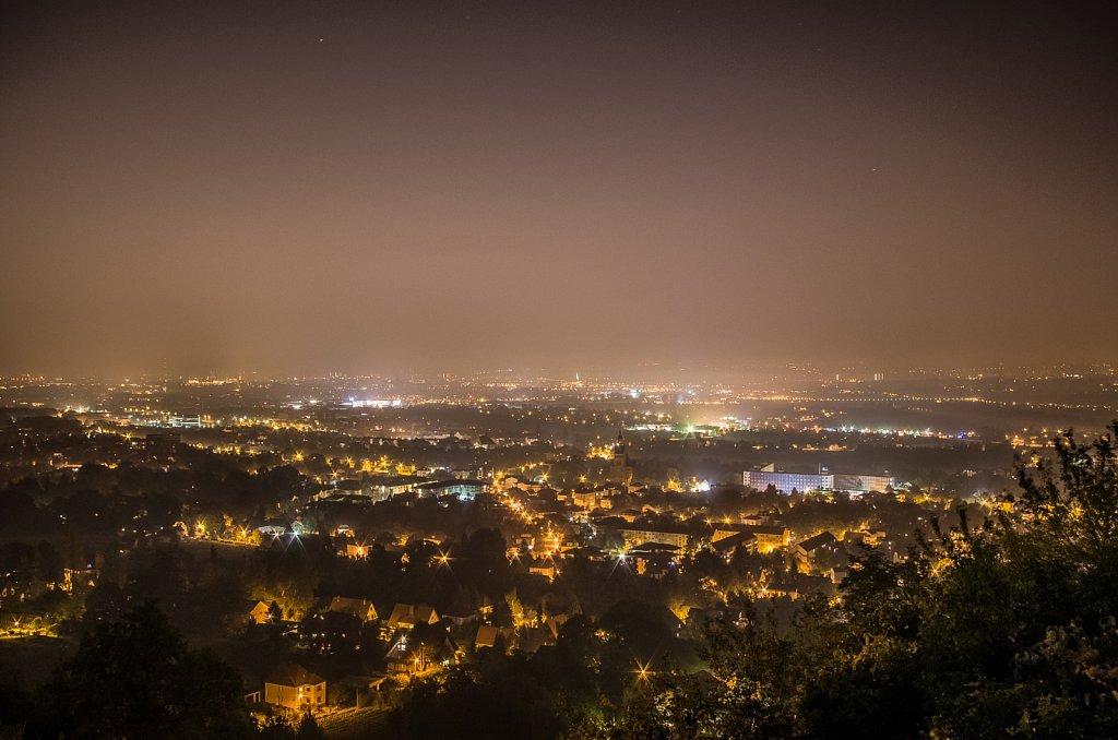 Blick über Radebeul & Dresden